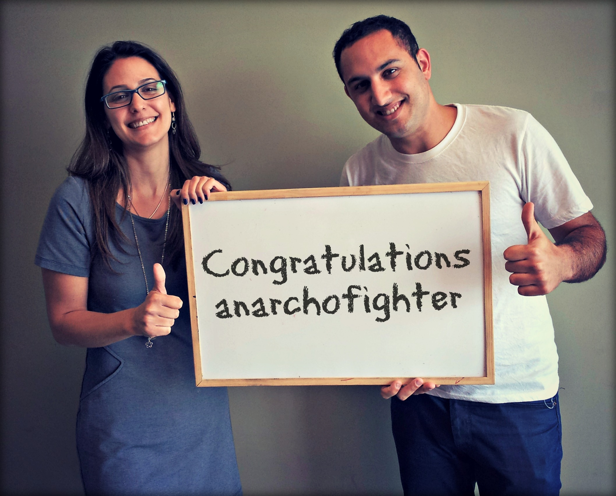 Congratulations anarchofighter!